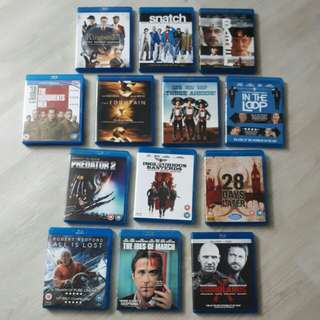 <SOLD> $52 for 13 Original Blu ray Titles Movies