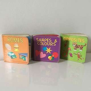3 For 3$ Opposites, Shapes & Colours, Homes Books For Baby