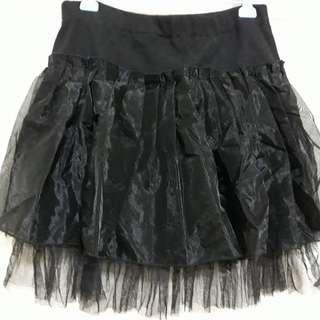 黑色棉+紗裙