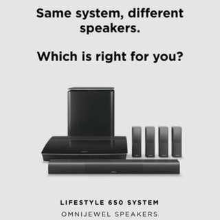 Bose Lifestyle 650 Home theatre system c/w mounting brackets