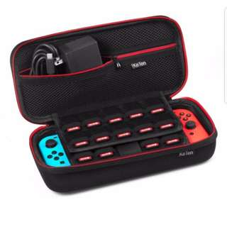 Keten Nintendo Switch Case Newest Version Travel Carrying Case with 19 Game Cartridge Holders for Nintendo Switch Console, Games, Joy-Con and Other Nintendo Switch Accessories Hard Travel Carry Case Protective Storage Bag