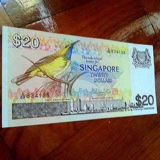 Bird Series $20 8H8T note 1pcs.