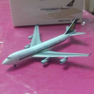 Aircraft model Singapore Airline Cargo B747-400F.