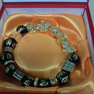 Lucky Pixiu bracelet 媲貅六字大明咒手链