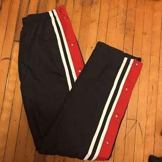 Vintage striped tearaway waterproof pants