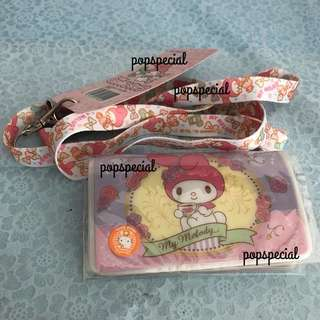 Last SET My Melody 2 slots Ez Link card Holder with lanyard neck strap
