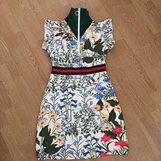 Gucci Inspired Floral Dress