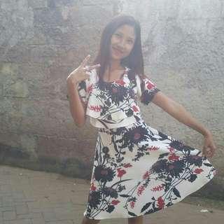 Dress Motif bunga bunga
