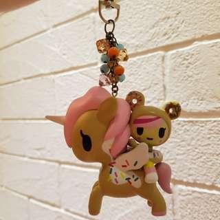 tokidoki donutella soulmate bag charm fob key chain dolce