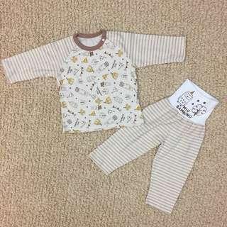[現貨] 日款 嬰幼兒包肚睡衣套裝