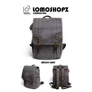 Waterproof Waxed Canvas Genuine Leather Camera Backpack