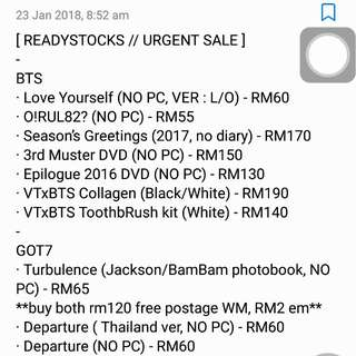 [ READY STOCK ALBUMS ]