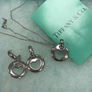 Tiffany and Co silver two way earring and necklace set