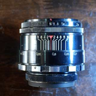 Helios 44 Early Zebra version, M42 mount adaptable to Nikon, Sony, Fujifilm, Canon, Olympus