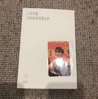 BTS Love Yourself E Version Album with Jhope Photocard