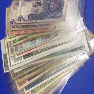 Mixed Foreigner old notes 75pcs