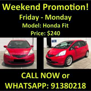 Honda Fit Weekend Promotion