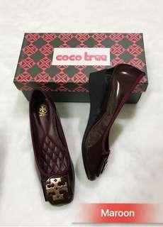 Tory Burch Patent Wedge Shoes