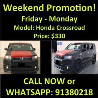 Honda Crossroad Weekend Promotion