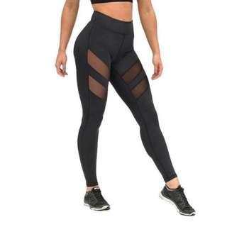 Yoga sports leggings (black, gray)