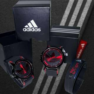 Adidas Couple Watches with Gym Band Watch