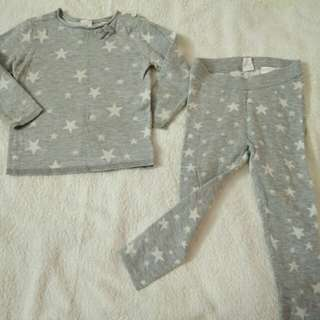 H&M knit cotton sweater and legging set