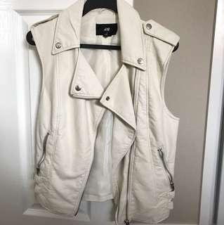 cream coloured vest