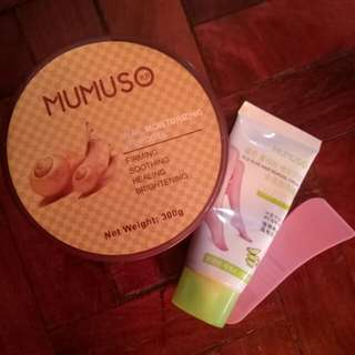 Mumuso Products (hair removal and face or boday moisturizer)