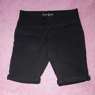 Girl's Black Shorts 5-7y