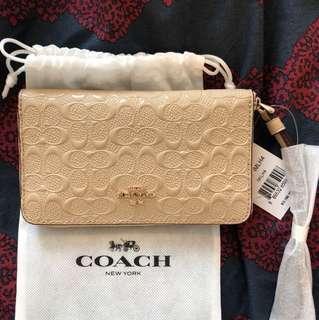Coach zip around Phone Wallet