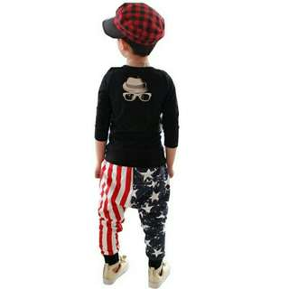 Boy kids girl kids clothing cotton pants trousers