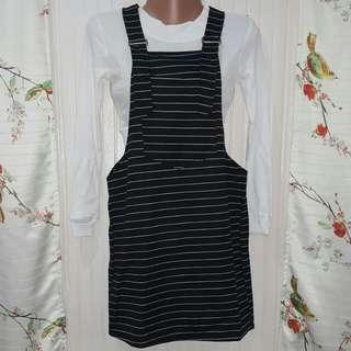 Striped Jumper Skirt