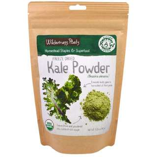 Wilderness Poets, Living Raw Foods, Freeze Dried Kale Powder, 3.25 oz (92 g) 凍乾羽衣甘藍粉 超級食品