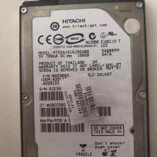 160 GB Hitachi Hard Disk