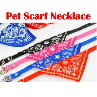 TPE017 Adjustable Pet Dog Cat Puppies Hot Collars Scarf Necklace