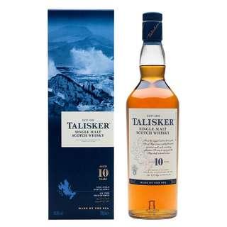 Talisker 10 single malt whisky scotch