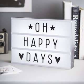 BEST DEAL CHEAPEST DIY Cinematic LightBox Letter A4 NEW