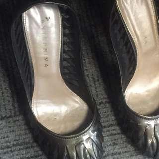 Anteprima Heels 98% - metallic with weaving patent leather pattern