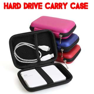 "TCP011 Hard Carry Case Cover Pouch for 2.5"" USB External Hardisk Protector Bag Enclosure Pouch"