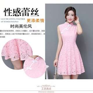 Cheongsam Lace Dress XL