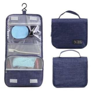Waterproof Portable Case Make Up Organizer Toiletry Kits Storage Travel Wash Pouch [Blue]