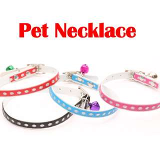 TPE015 Pet Dog Cat Puppies Adjustable Necklace with bell Cute