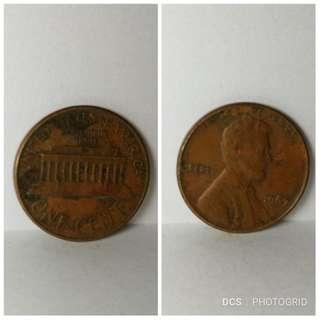 1967 USA 1 cent