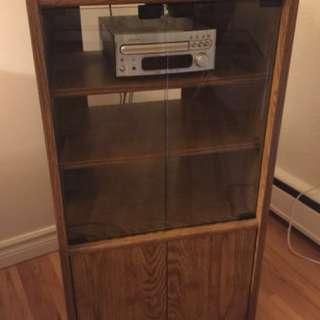 Audio Cabinet w/ Record Storage Below