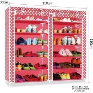 Double shoe rack