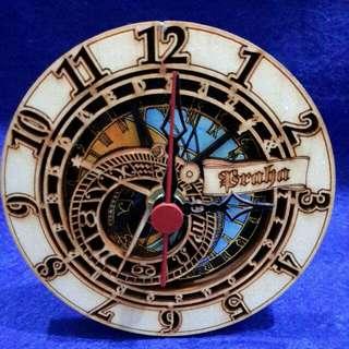 Clock ( CZECH ASTRONOMICAL  CLOCK   DIAMETER ABOUT 110MM )