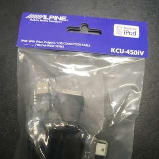Alpine IVA-W502E Ipod/USB cable 450iv