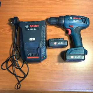 Bosch GSR 1440-LI Drill with fast charger and 2 batteries
