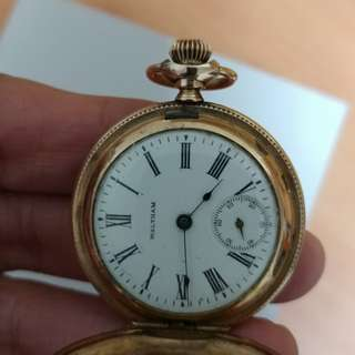 Vintage waltham pocket watch hunter case