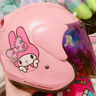 粉紅美樂蒂安全帽